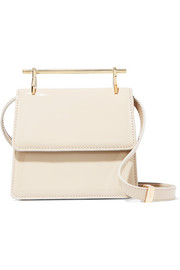 M2Malletier Collectionneuse mini patent-leather shoulder bag
