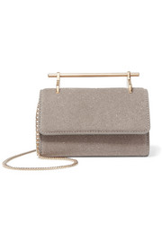 M2Malletier Fabricca mini glittered leather shoulder bag