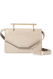 Indre patent-leather shoulder bag