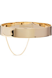 Eddie Borgo Safety Chain gold-plated choker