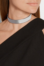 Eddie Borgo Safety Chain silver-plated choker