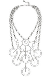 Aquila oxidized silver-plated necklace