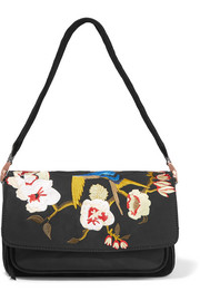 Elizabeth and James Willa suede and embroidered shell shoulder bag