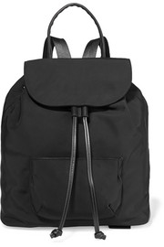 Elizabeth and James Langley leather-trimmed shell backpack