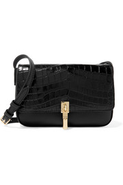 Cynnie micro croc-effect leather shoulder bag