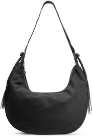 Elizabeth and James Zoe large tasseled leather-trimmed shell shoulder bag