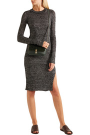 Elizabeth and James Cynnie micro croc-effect and leather shoulder bag