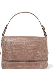 Crocodile shoulder bag