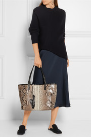 Nancy Gonzalez Crocodile-trimmed python tote
