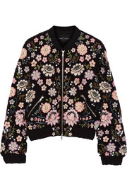 Needle & Thread Embellished chiffon bomber jacket