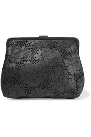 Pierlot Supreme laser-cut leather clutch