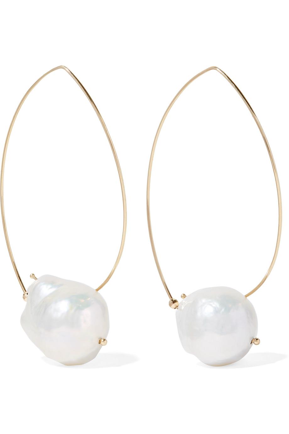 14-Karat Gold Pearl Earrings
