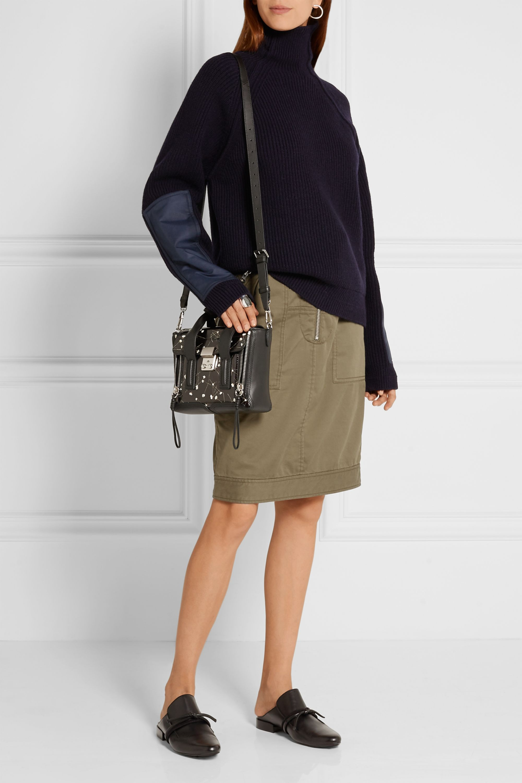 3.1 Phillip Lim The Pashli mini floral-print patent and matte-leather shoulder bag
