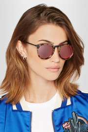 No Smirking round-frame acetate and metal sunglasses