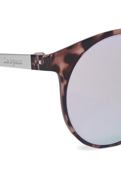 2d4c4484a6cb93 Le Specs. Lunettes de soleil rondes effet miroir en acétate effet écaille Demo  Mode. €65. Zoom