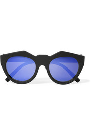 Neo Noir cat-eye rubber sunglasses