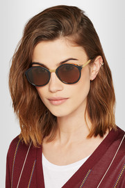 Thierry Lasry Advisory cat-eye acetate and metal sunglasses