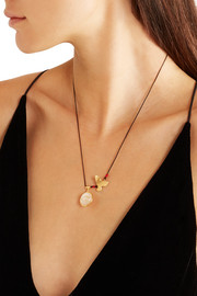 Lucky Charm gold-plated quartz necklace