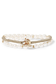 Lily gold-plated freshwater pearl bracelet