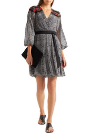 Diane von Furstenberg Bianka pleated printed georgette wrap dress