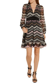 Diane von Furstenberg Lizbeth printed silk-chiffon mini dress