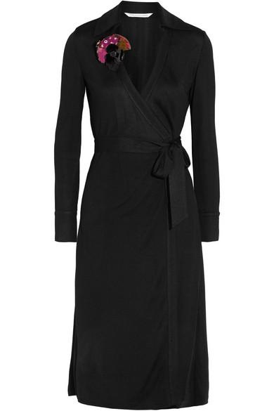 Diane von Furstenberg - Cybil Jersey Wrap Dress - Black