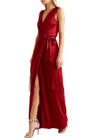 Diane von Furstenberg Taley pleated jersey wrap gown