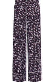 Stanton printed silk-jersey wide-leg pants