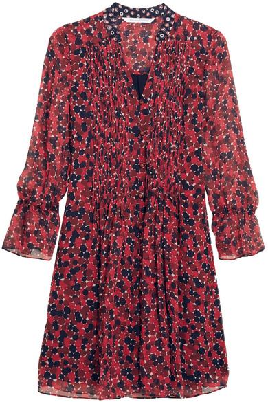 Diane von Furstenberg - Kourtni Printed Silk-georgette Mini Dress - Red