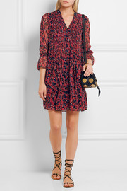 Kourtni printed silk-georgette mini dress