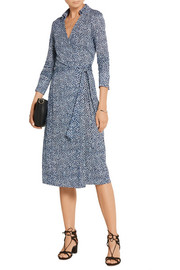 Diane von Furstenberg Cybil printed silk wrap dress