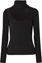 Diane von Furstenberg Gracey cutout wool and cashmere-blend turtleneck sweater