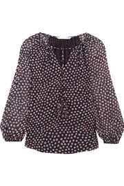 Saylor printed silk-georgette blouse