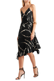 Diane von Furstenberg Brenndah wrap-effect printed stretch-silk dress
