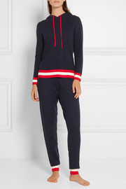 Dalton hooded striped cashmere sweater