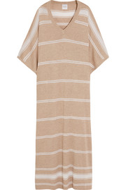 Striped cashmere kaftan