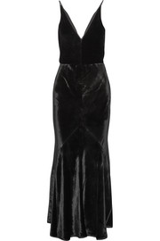Gabriela Hearst Bridget velvet maxi dress