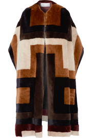 Gabriela Hearst Mira reversible patchwork shearling coat