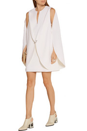 Dion Lee Layered wool-crepe mini dress