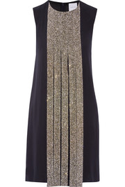 Swarovski crystal-embellished silk-crepe dress