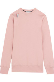 Embroidered cotton-jersey sweatshirt