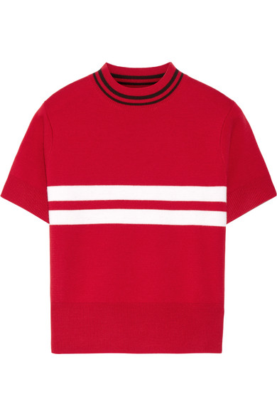 Tim Coppens - Striped Merino Wool Sweater - Red