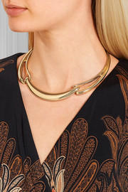 Kenneth Jay Lane Gold-tone choker