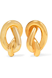 Gold-plated clip earrings