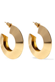Gold-plated hoop earrings