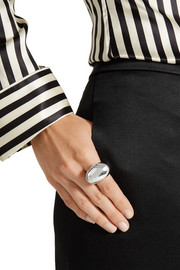 Kenneth Jay Lane Rhodium-plated ring