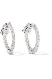 Silver-plated cubic zirconia hoop earrings