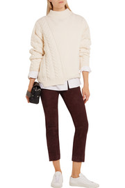 Vince Cropped suede leggings
