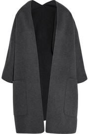 Reversible wool and cashmere-blend cardigan