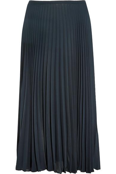 053898f22 Vince | Pleated chiffon midi skirt | NET-A-PORTER.COM